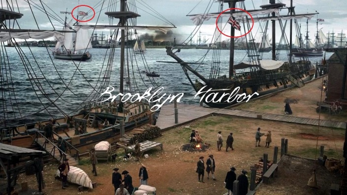 TURN01 - Brooklyn Harbor flag(circled)