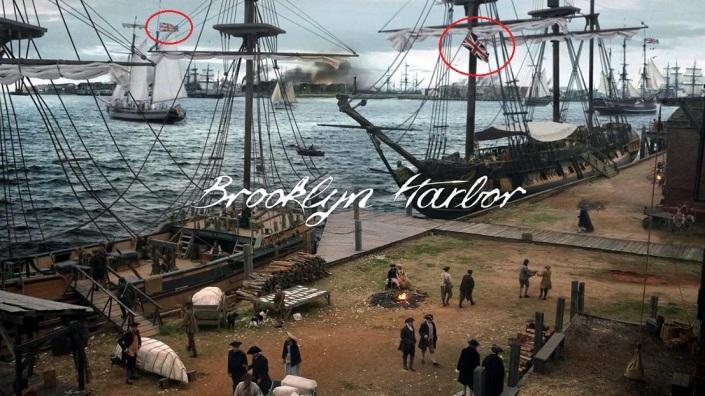 TURN01 - Brooklyn Harbor flag(circled)