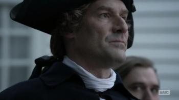 """Benjamin Tallmadge peering up at General """"No Mercy"""" Washington"""