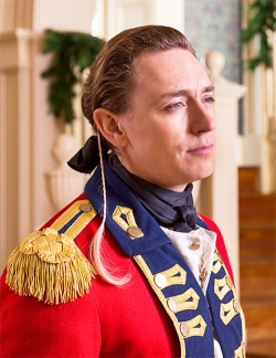 On the slight chance that you've been watching TURN in an isolated vacuum or have only seen the episodes that don't feature Major John Andre as a major character, I'm referring to the strange little white braid seen here.