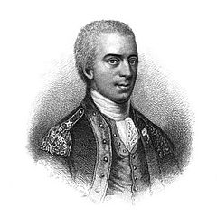 "Samuel B. Webb, commander of the chromatically confusing Continental ""redcoats."""