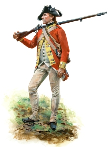 Continental Redcoats: Webb's Additional Continental Regiment, 1777. (Courtesy Don Troiani Historical Images, www.dontroiani.com)