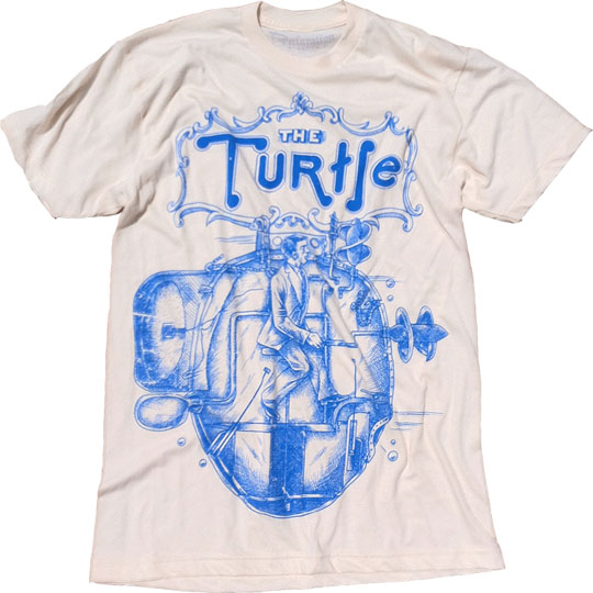 This Turtle tee, now out of print, was one of Declaration Clothing's earliest t-shirt designs. Source: http://www.declarationclothing.com