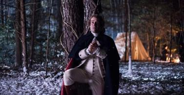 "A screenshot of George Washington (Ian Kahn) from S2E07, ""Valley Forge,"" intended to mimic the Friberg painting."